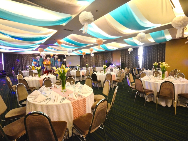 kids birthday party using round table setup and stage decoration