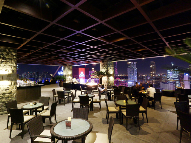 bar area located at the 33rd floor of the hotel