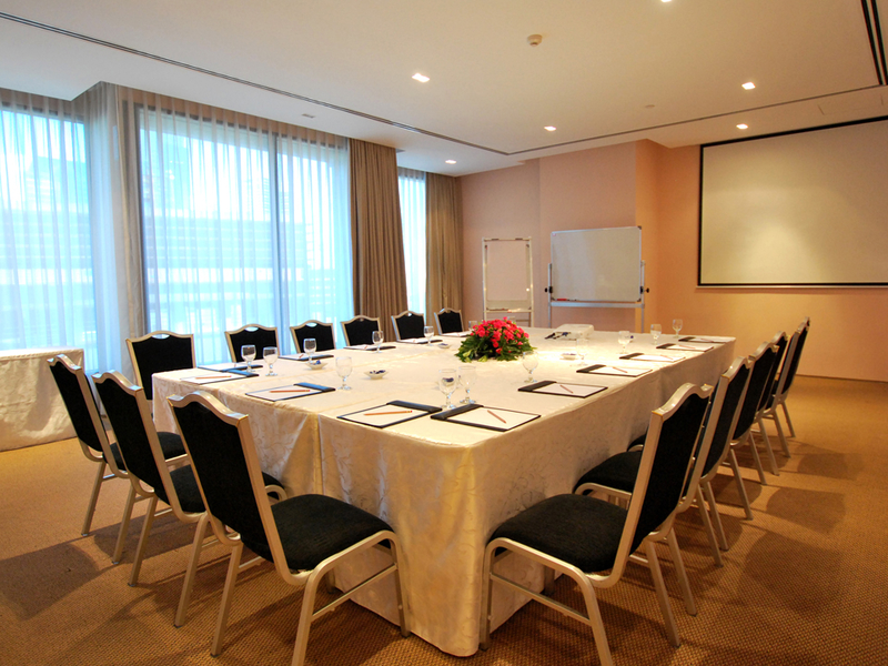 conference style of meeting in the private meeting room