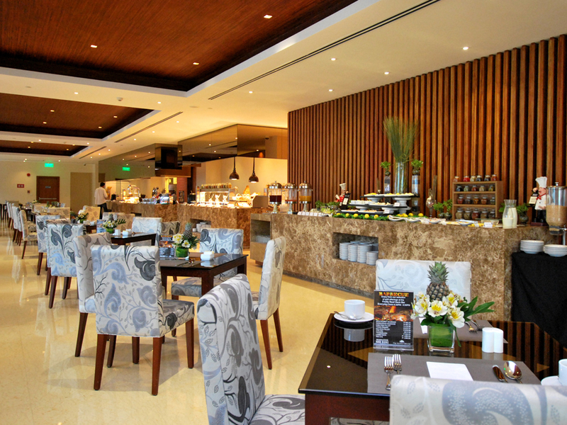 main restaurant area with various selection of buffet