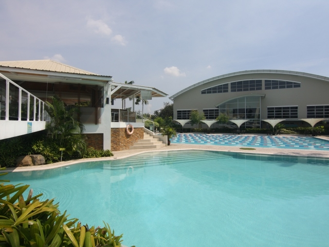 paranaque kids birthday party space with outdoor swimming pool and mini garden