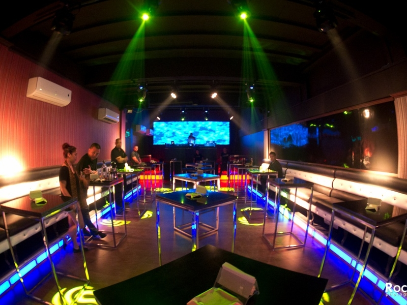 standing tables in club