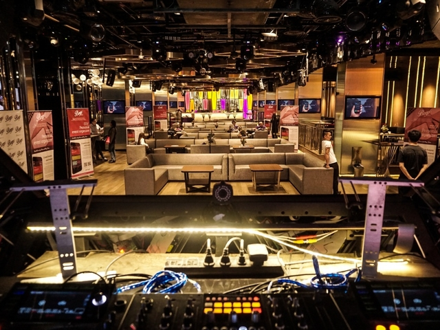 dj set equipment overlooked the lounge area