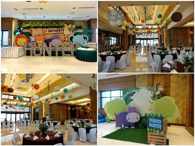 range of birthday parties decor
