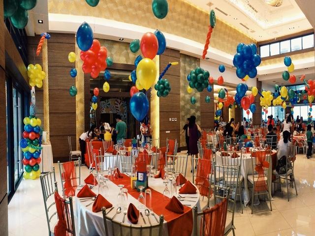 ballroom setup for kids birthday party