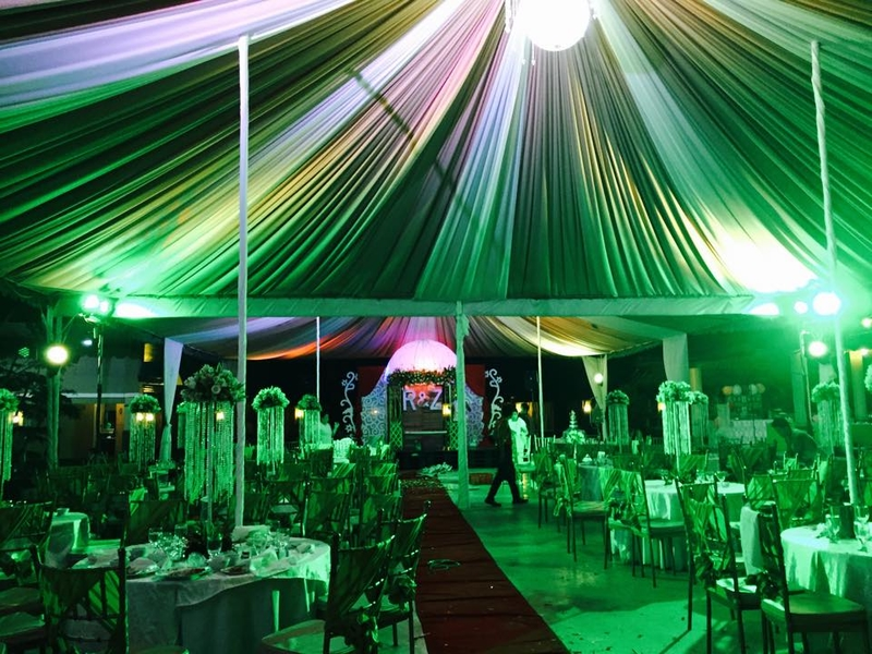 dinner and dance party venue in philippines with green lighting
