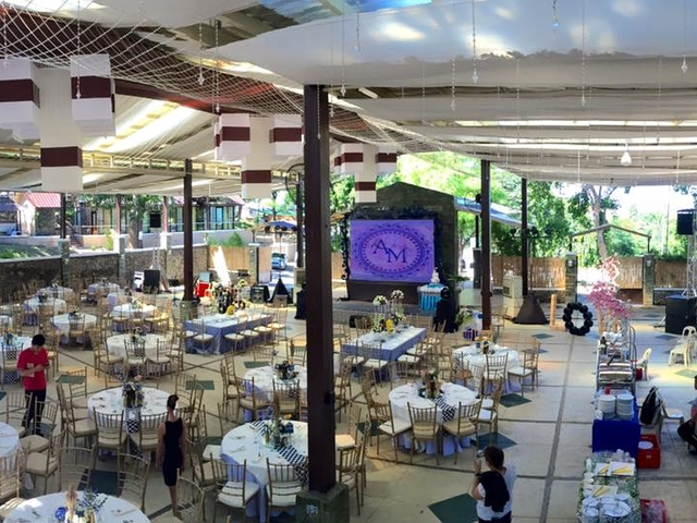 philippines large function hall with semi-open-air concept and high ceiling