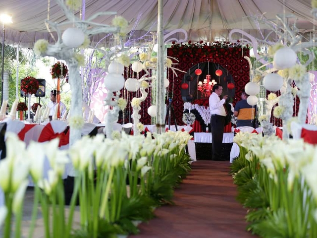 intimate wedding space in philippines with flower decorations