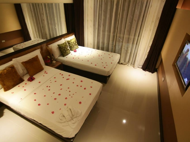 large private bedroom with tv screen in philippines event venue
