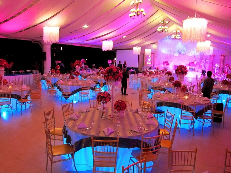 product launch event space in davao with white tent interior and banquet seating