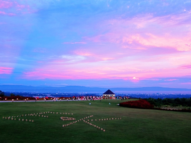 large outdoor garden wedding venue in davao with sunset view
