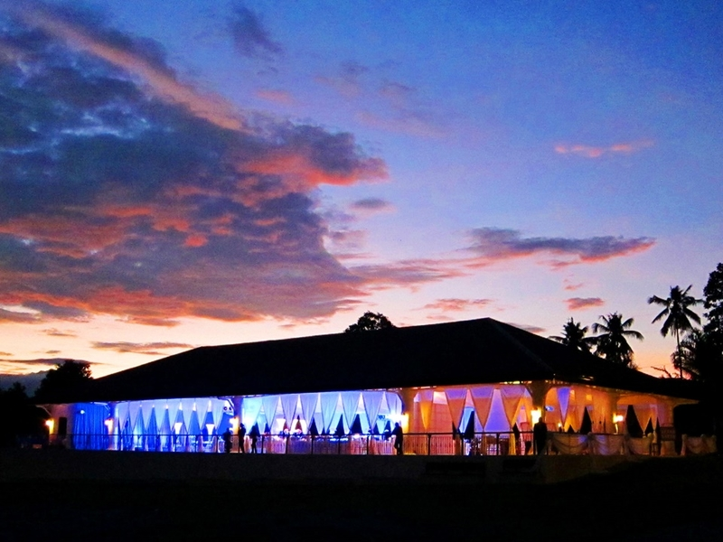 year-end party venue in davao with colourful light and large outdoor area