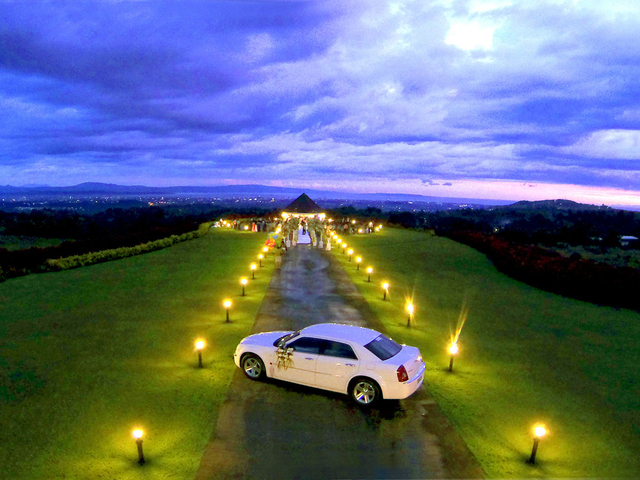 prewedding car parking in philippines large garden area