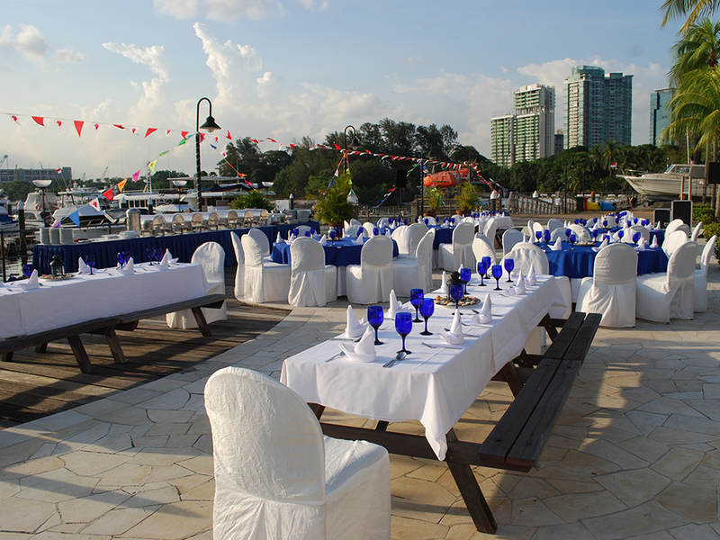outdoor dining event with simple set up