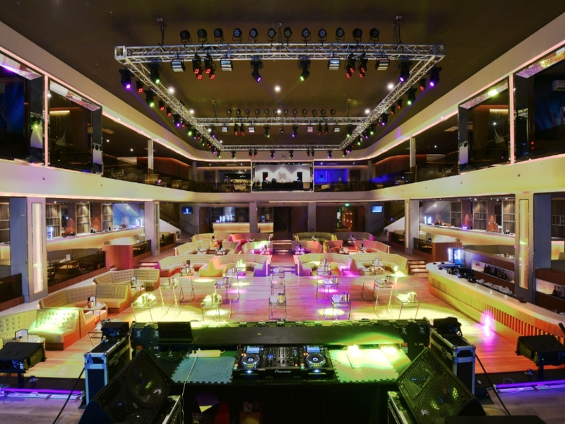philippines large event venue with audio mixer and track lights