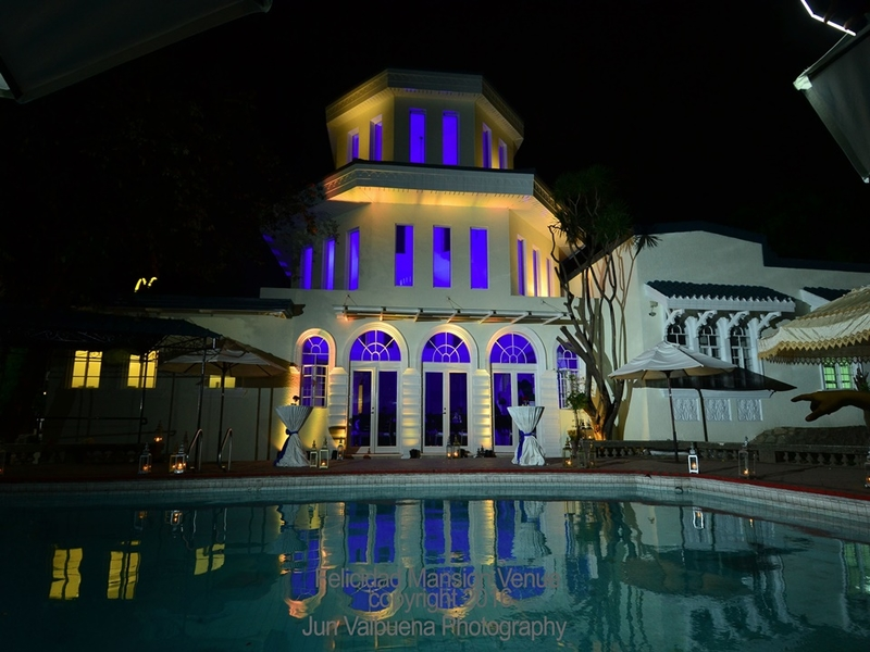 event space with private swimming pool