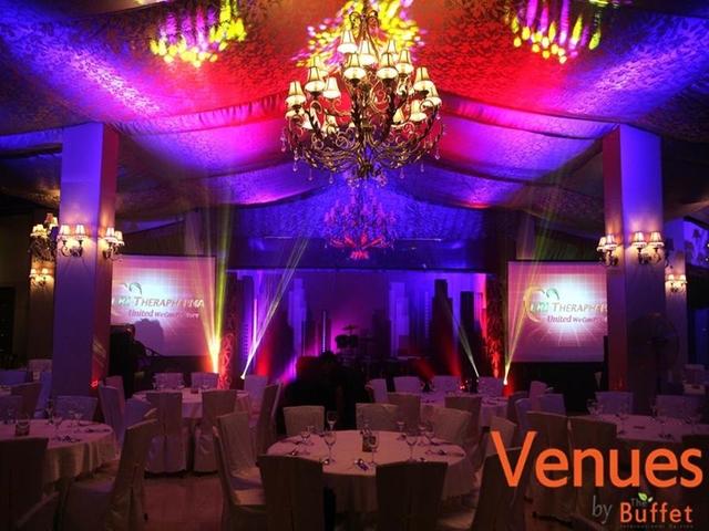 wedding ballroom in the buffet international cuisine