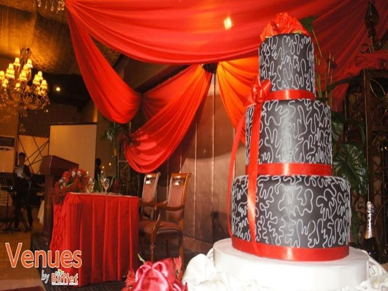 three layered wedding cake
