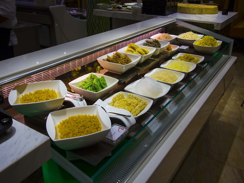 a lot of options of noodles and pasta