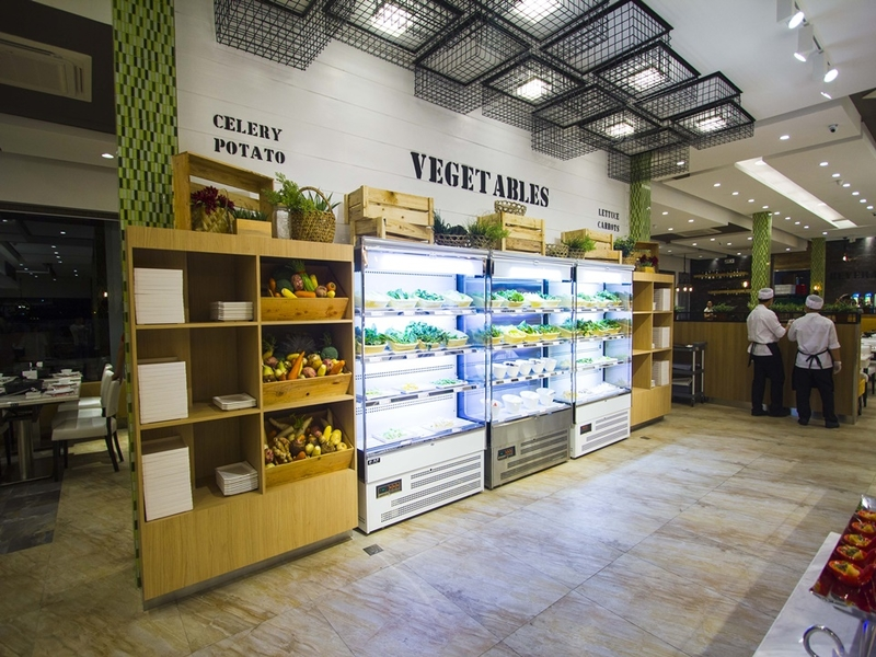 vegetables and celery potato area