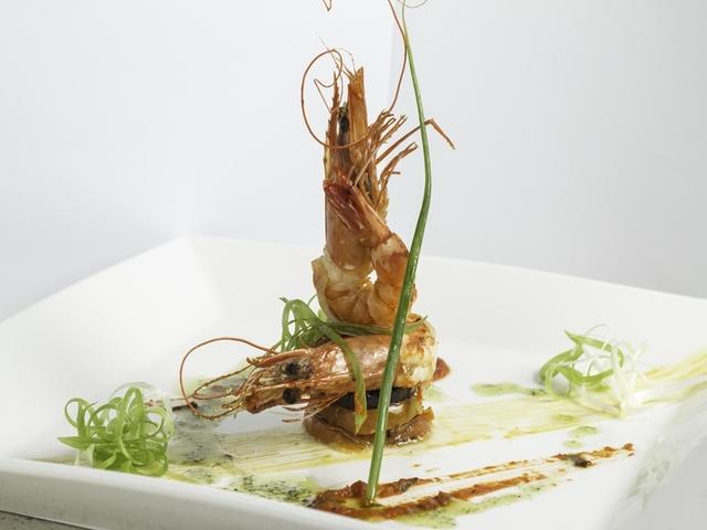 prawn cuisine on plate