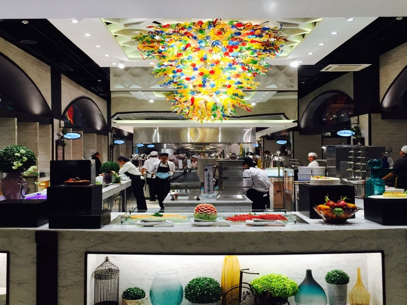 sweet seventeen event venue in makati with open space kitchen and colourful ceiling