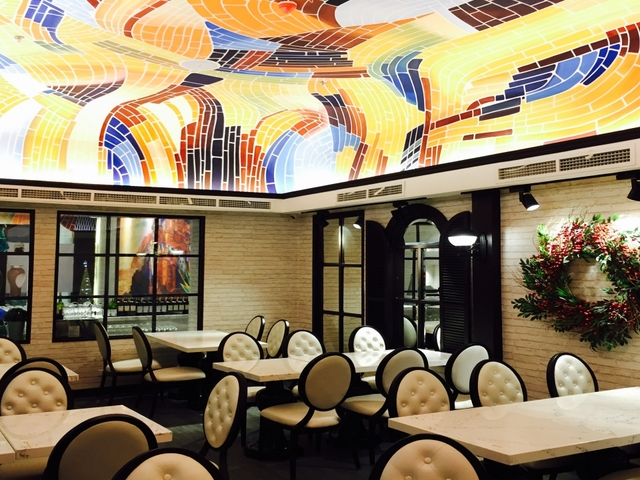 large event space in makati with art ornament on the ceiling