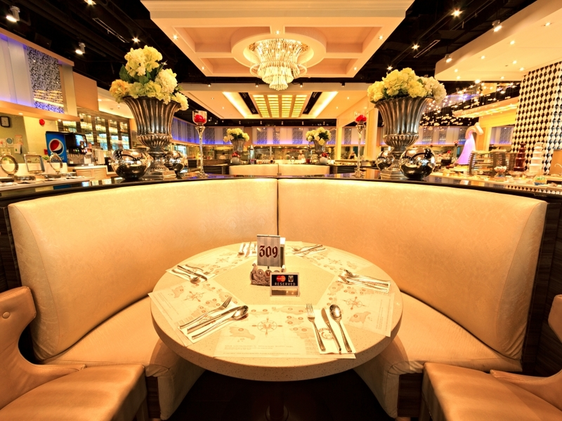 round couches and dining table in quezon city event venue