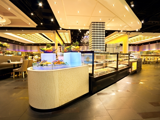 cocktail party venue in quezon city with black and white interior