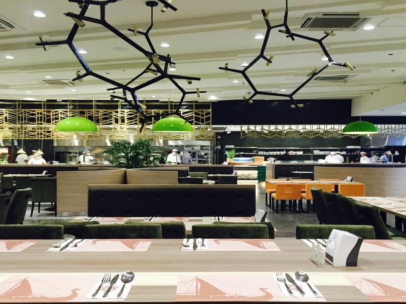 philippines large restaurant with high ceiling and long dining table