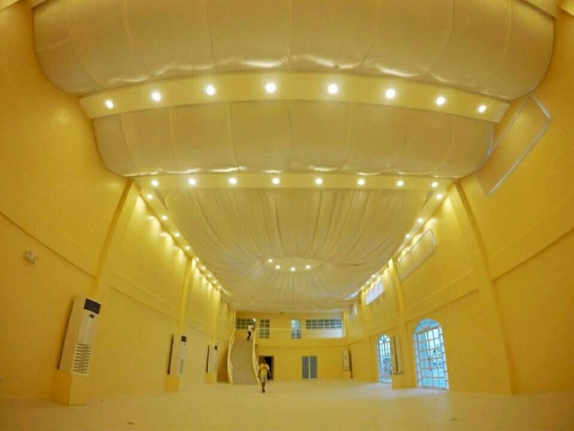 empty function hall with high ceiling