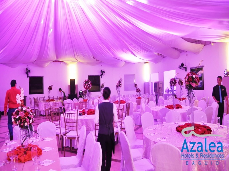 wedding reception using round table setup