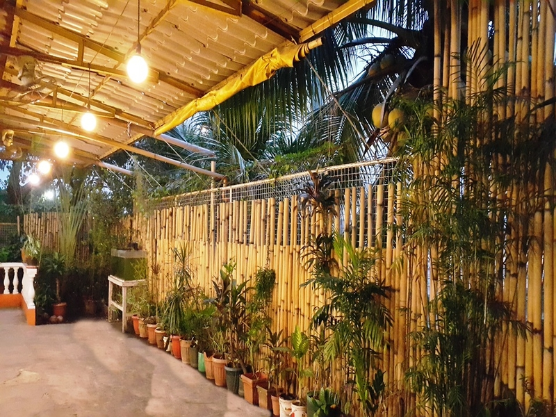 navotas large event space with bamboo interior and plants around