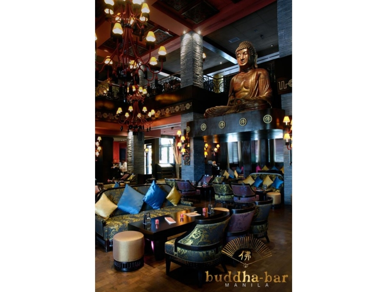 networking event space with big buddha statue at the second floor