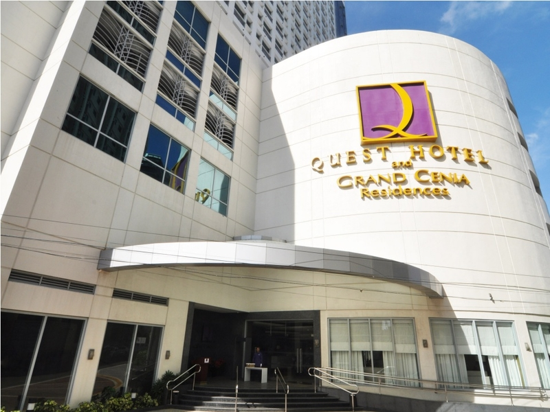 quest hotel building and entrance