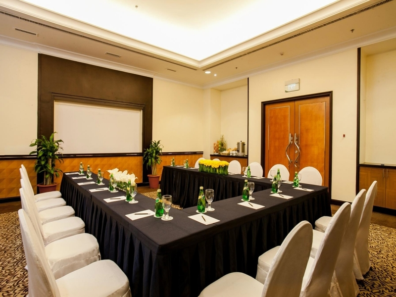 conference meeting room with projector screen