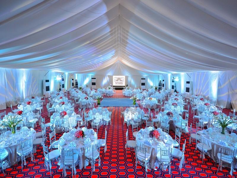 hotel ballroom setup for wedding