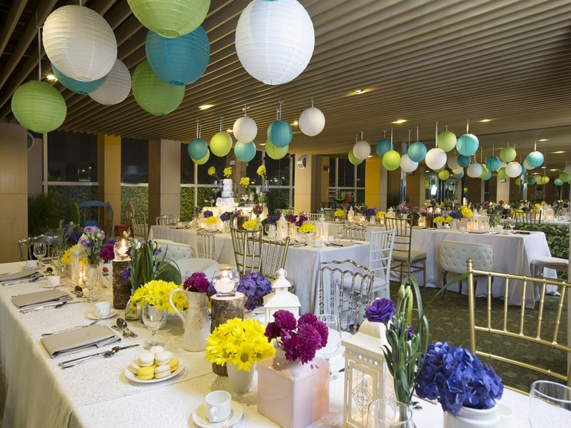 party setup in function hall