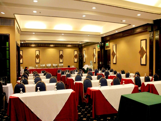 seminar space in davao city with classroom seating and buffet table at the back