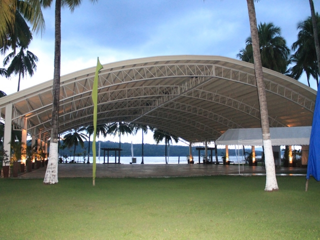 large event space in davao city with sea view and coconut tree surrounds