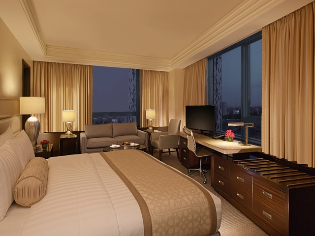 superior room with 1 king bed and room facilities