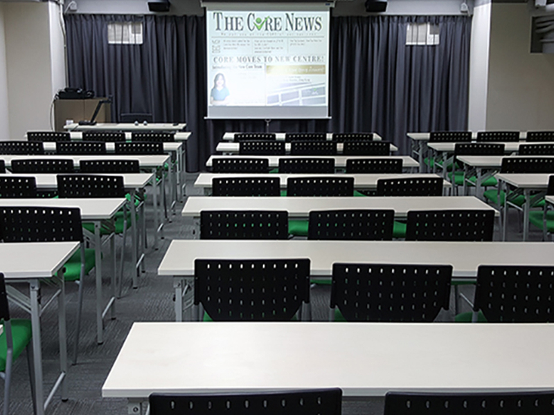 classroom setup for annual meeting event