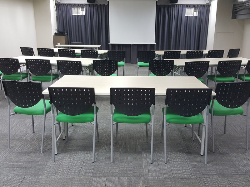 private meeting room using classroom seating style