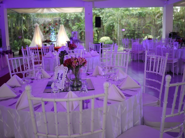 white themed table setup