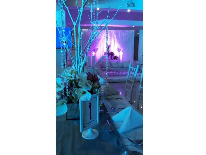dreamy wedding table setup