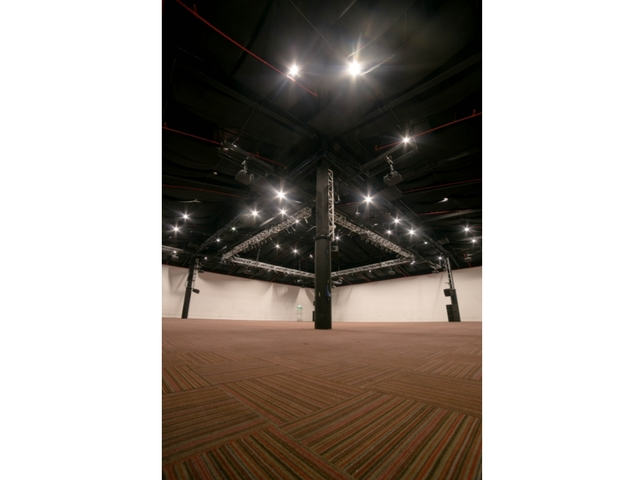 function hall equipped with audio-visual and lighting facilities