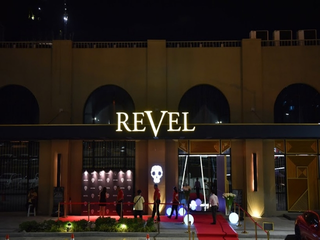 revel at the palace entrance