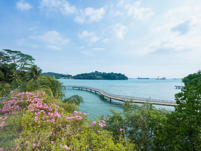 event venue in singapore with sea view and small bridge to cross island