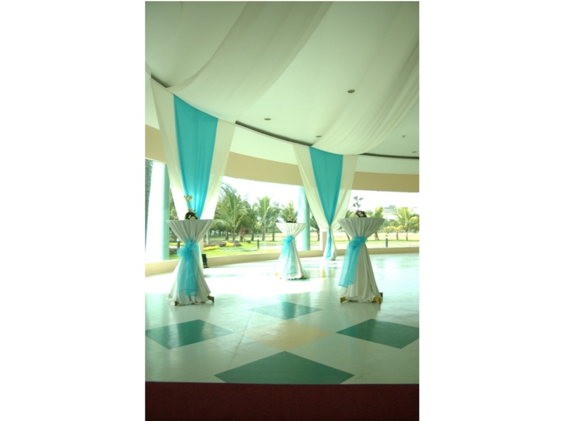 semi outdoor area in event hall