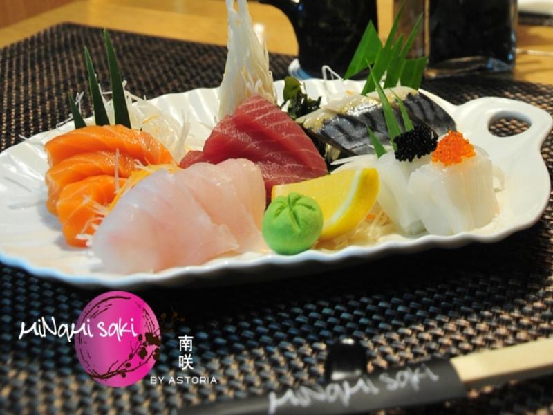 sashimi platter at minami saki by astoria
